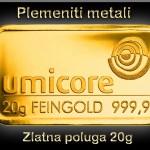 Zlatne poluge od 10 i 20 grama