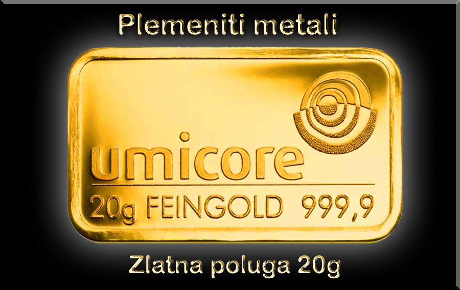 zlatna poluga od 20 grama